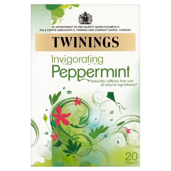 Twinings Pure Peppermint Tea Bag - 20s - Pack of 4 (20s x 4)