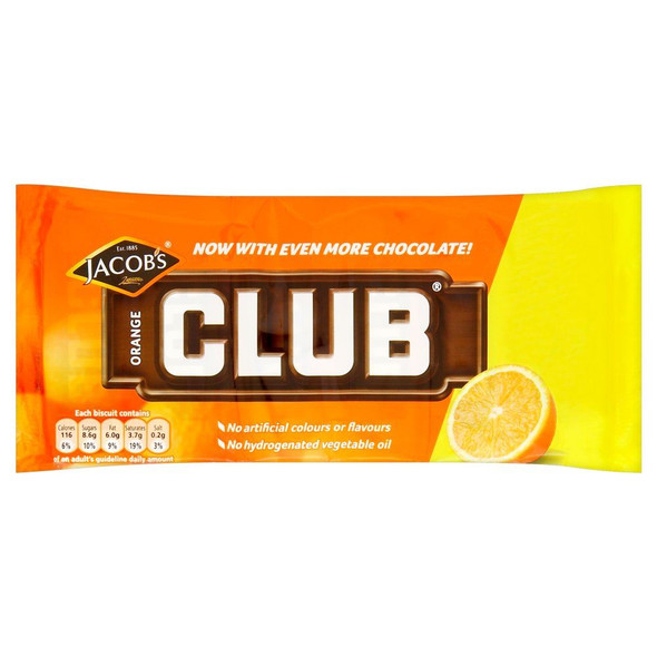 Mcvitie's Orange Club - 22g - 24 Pack (22g x 24)