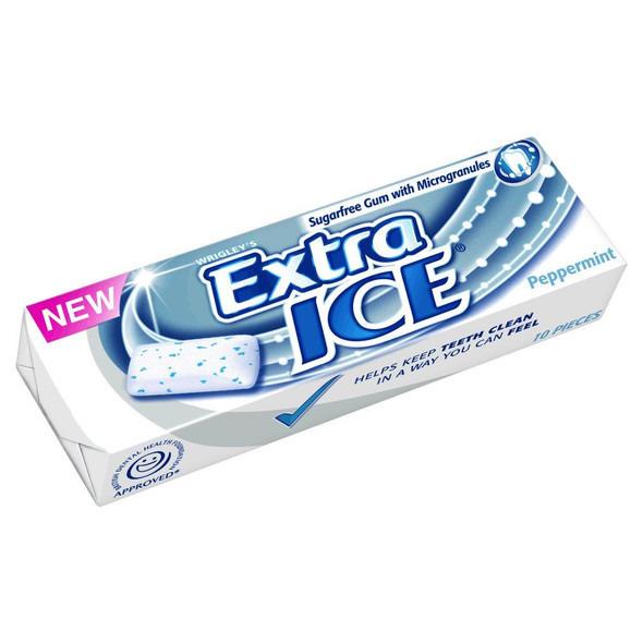 Wrigley's Extra Ice Peppermint - 14g - Pack of 10 (14g x 10)
