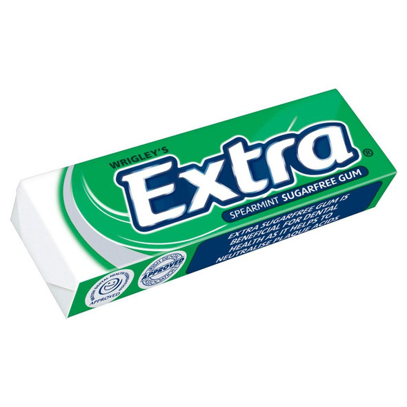 Wrigley's Extra Spearmint - 14g - Pack of 10 (14g x 10)