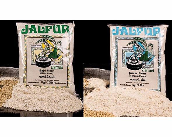 Jalpur Millers Flour Combo Pack - Jalpur Millet Flour 1kg - Jalpur Sorghum Flour 1kg (2 Pack)