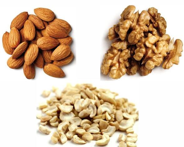 Jalpur Millers Nut Combo Pack - Almonds 1kg - Walnut Kernels 1kg - Split Cashew Nuts 1kg (3 Pack)