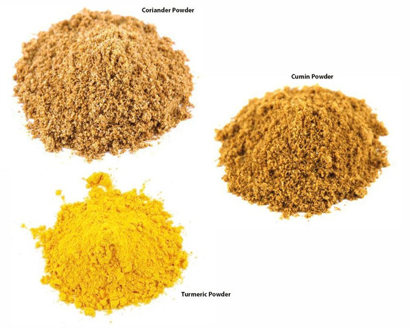 Jalpur Millers Spice Combo Pack - Coriander Powder 200g - Cumin Powder 200g - Turmeric Powder 200g (3 Pack)