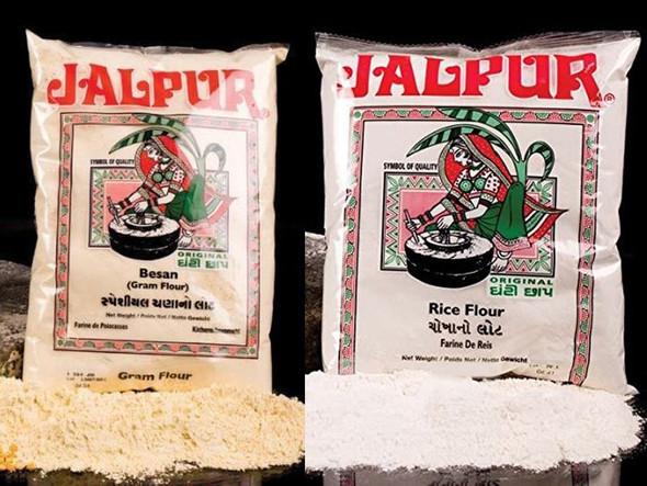 Jalpur Millers Flours Combo Pack - Jalpur Rice Flour 500g - Jalpur Stone Ground Gram Flour 1kg (2 Pack)