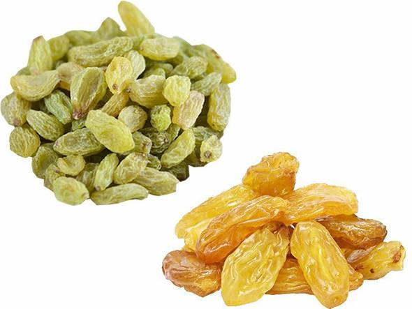 Jalpur Millers Dry Fruit Pack - Golden Sultana 150g - Green Raisins 150g (2 Pack)