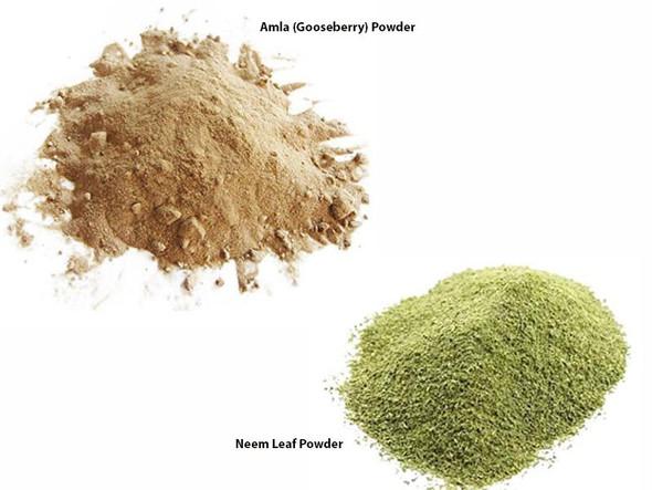 Jalpur Millers Spice Combo Pack - Neem Leaf Powder 100g - Amla Powder 100g (dry hog plum powder) (2 Pack)