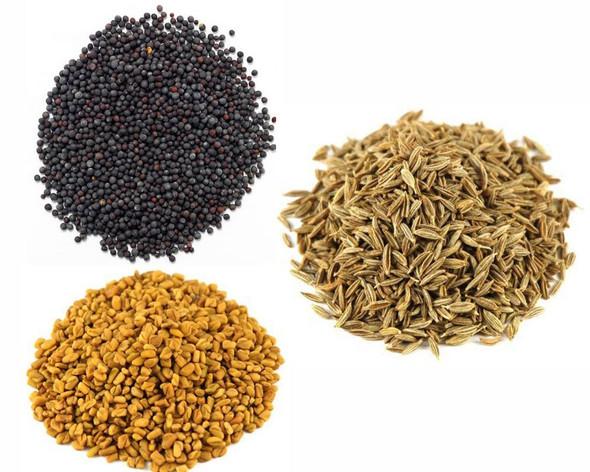 Jalpur Millers Spice Combo Pack - Fenugreek Seeds 100g - Black Mustard Seeds 100g - Cumin Seeds 100g (3 Pack)