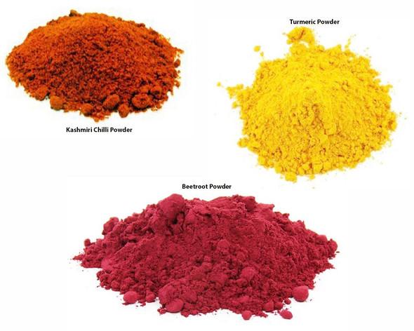 Jalpur Millers Spice Combo Pack - Beetroot Powder 100g - Kashmiri Chilli Powder 200g - Turmeric Powder 100g (3 Pack)