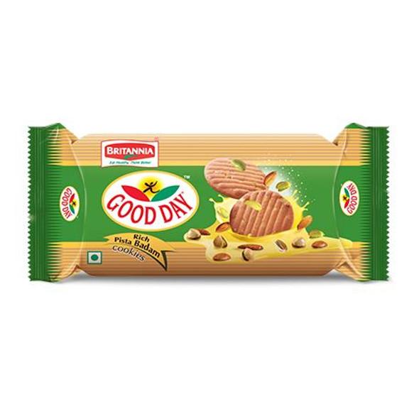Britannia - Pistachio & Almond Flavoured Cookies - 90g (Pack of 12)