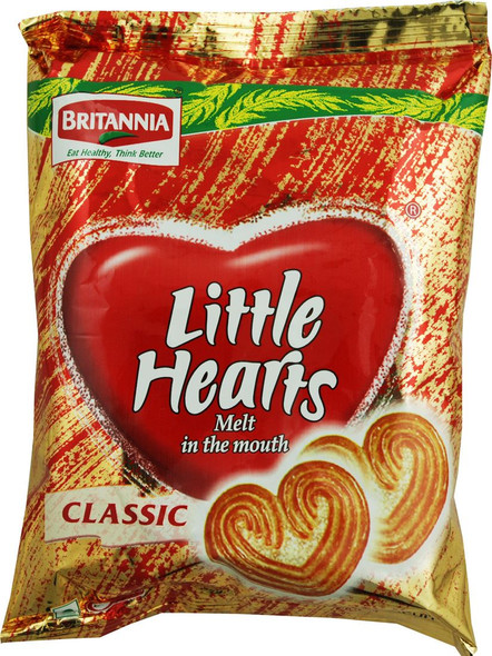 Britannia - Little Hearts Biscuits - 75g (Pack of 10)