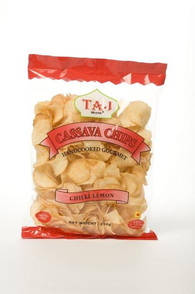 Taj Brand - Cassava Chips - Chilli & Lemon Flavour - 250g (Pack of 2)