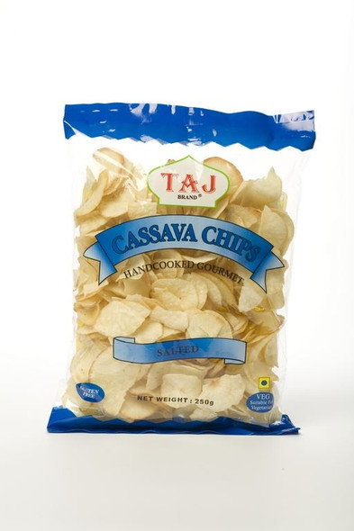 Taj Brand - Cassava Chips - Salted Flavour - 250g (Pack of 2)
