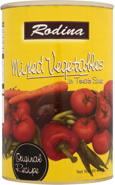 Rodina - Mixed Vegetables in Tomato Sauce - 400g (Pack of 4)