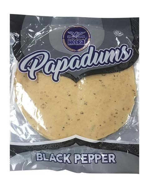 Heera Black Pepper Papadums - 200g