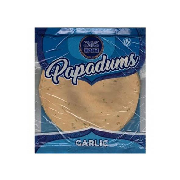 Heera Garlic Papadums - 200g