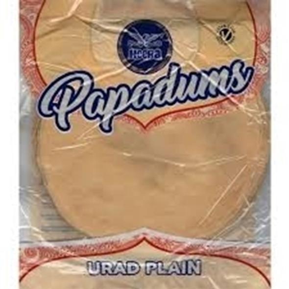Heera Urad Plain Papadums - 200g