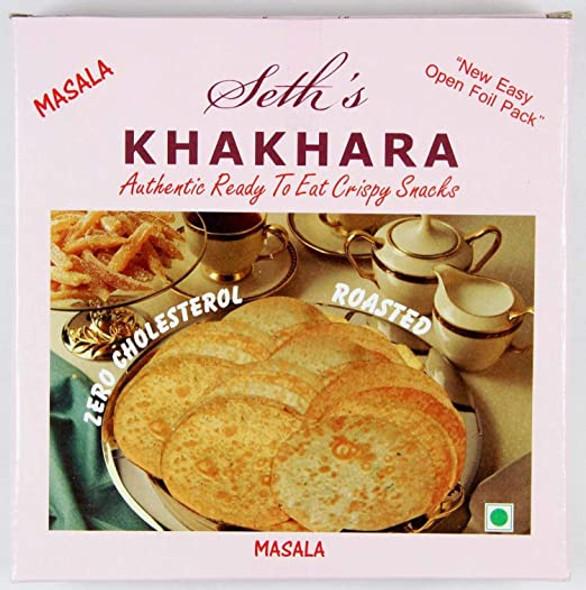 Seth's Masala Khakhra - (spice flavour wheat snack) - 200g