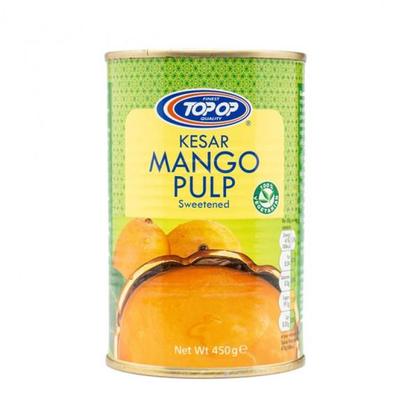 Top Op Kesar Mango Pulp (sweetened) - 450g