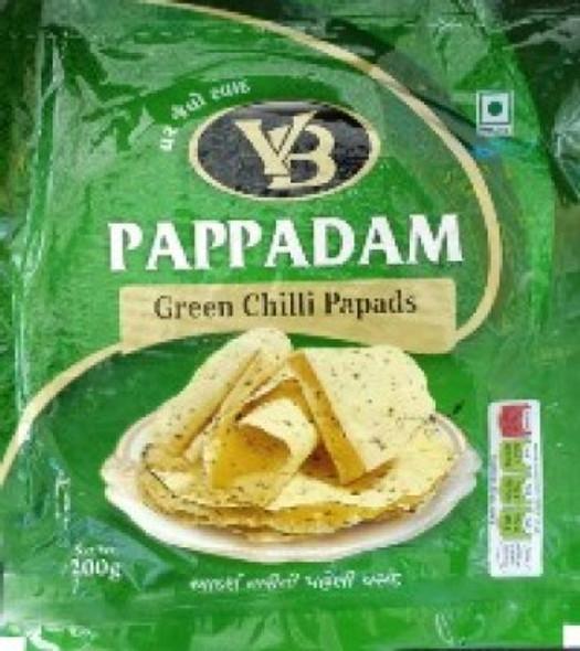 VB  Green Chilli Pappadam - 200g