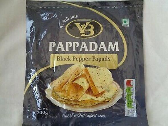 VB Black Pepper Pappadam - 200g