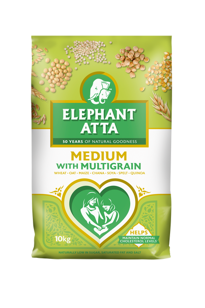 Elephant Atta Medium with Multigrain Flour - 10kg