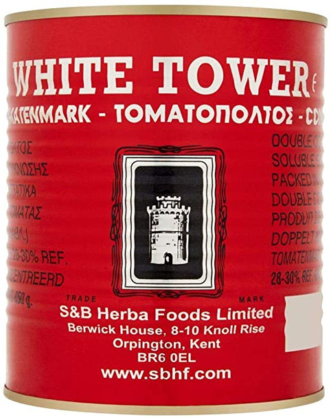 White Tower Tomato Puree (double conventrate) - 850g