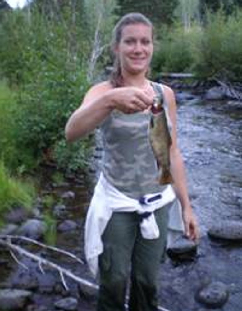 My daughter caught a fish on my elk hunt.