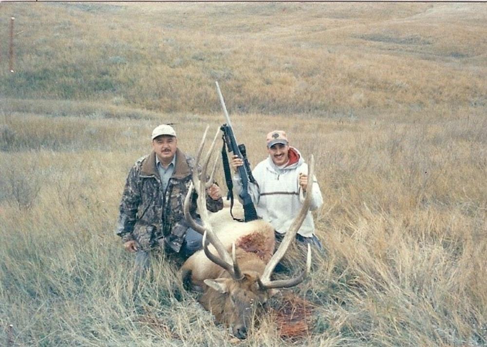 Open country elk hunt.