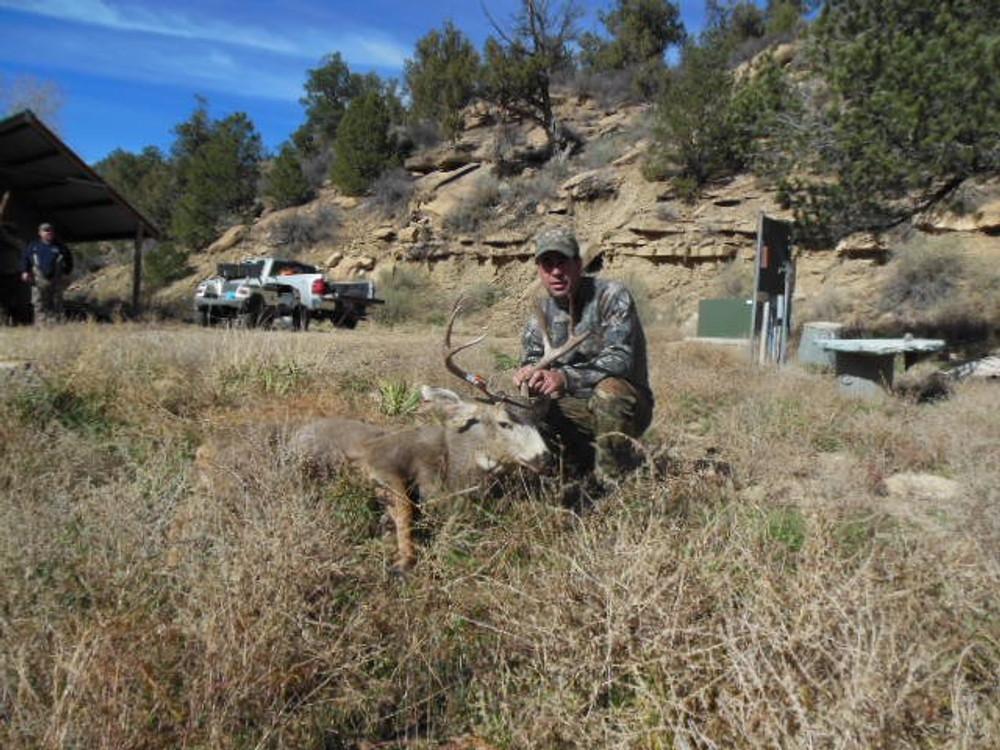 Easy pickings on private land deer hunt.