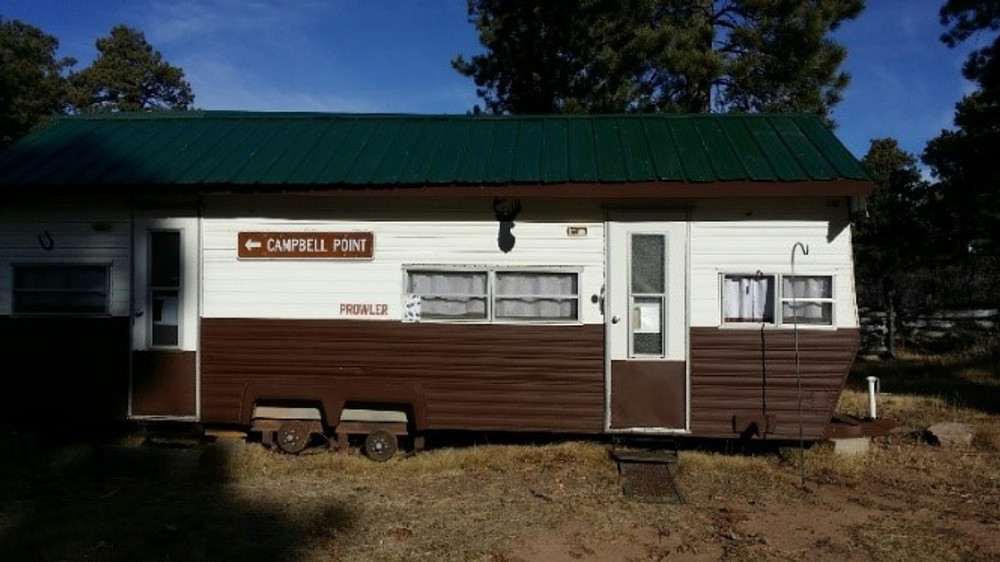 Trailer with cabin.