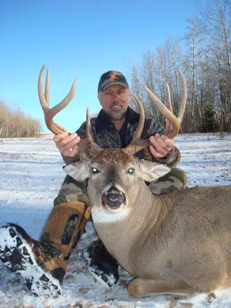 A little snow never hurt a hunt for a big whitetail buck.