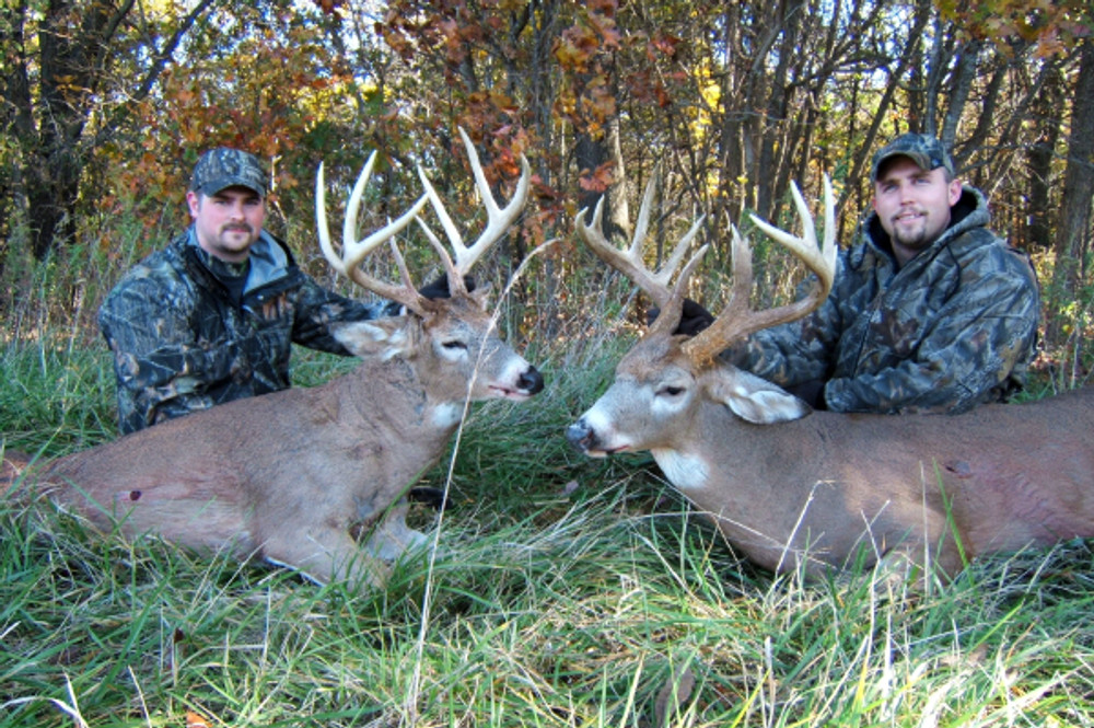 Double success on trophy whitetail.