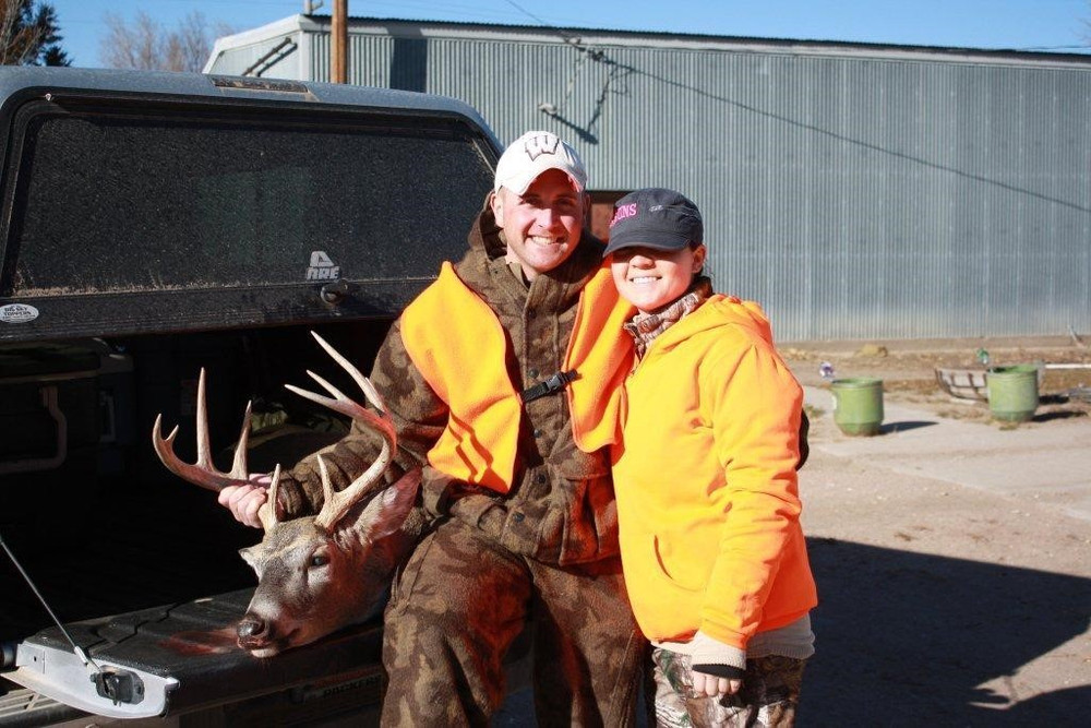 Couples trip hunting whitetail.