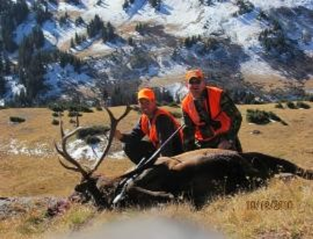 Successful guided elk hunt.