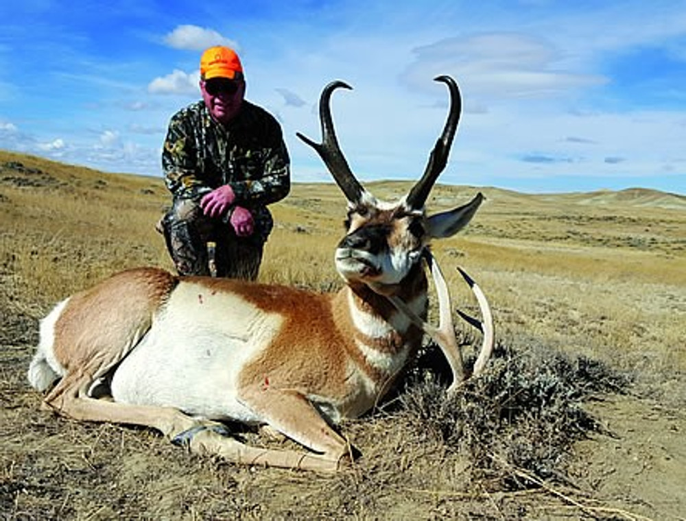Wyoming open country antelope hunts.