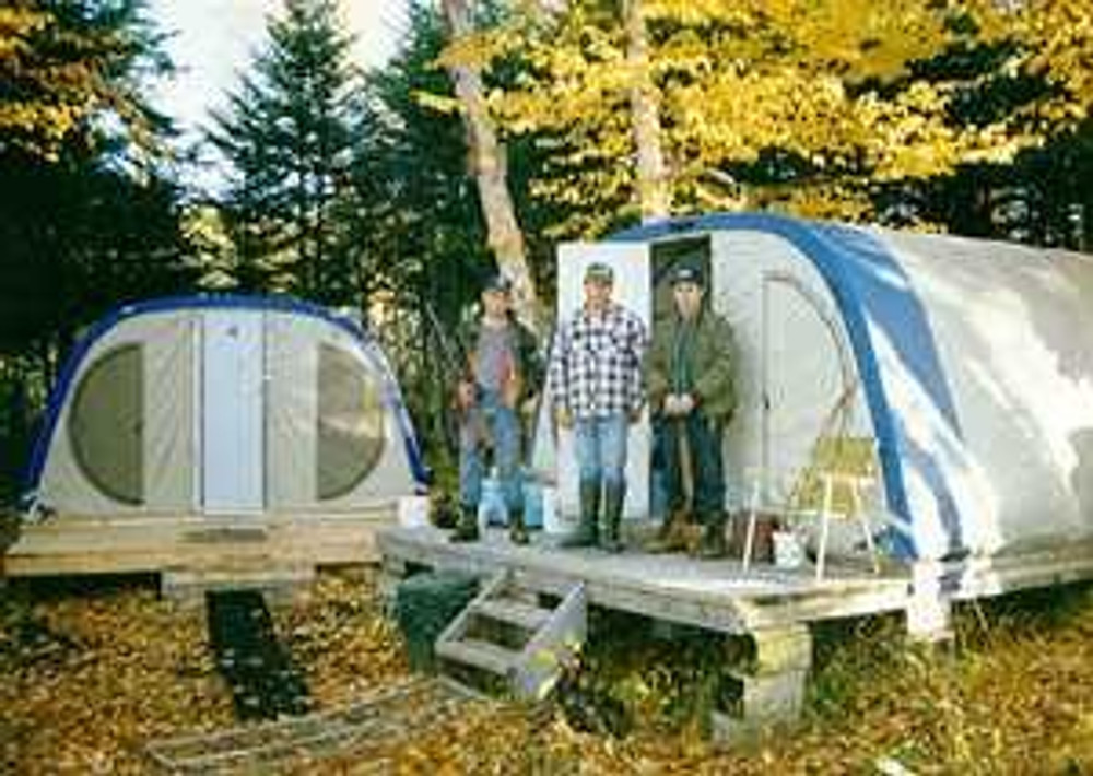 Spike camp for hunting.