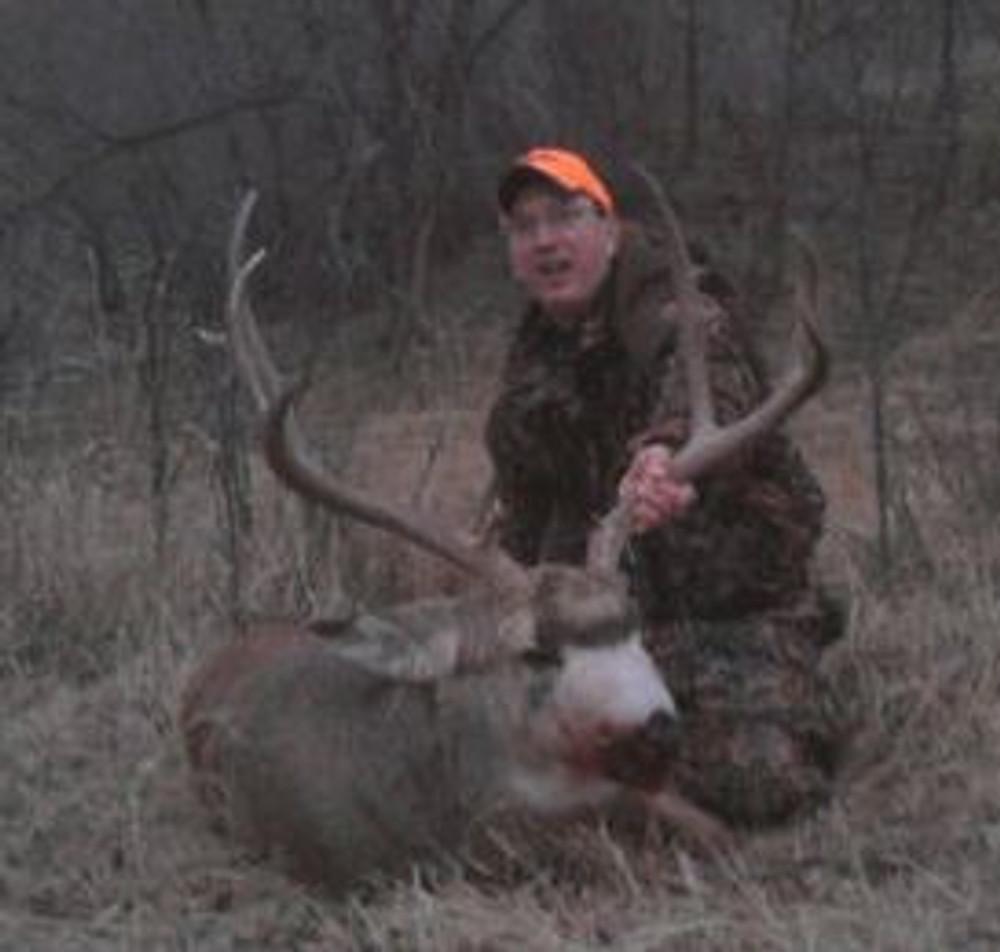 Late evening mule deer hunt.