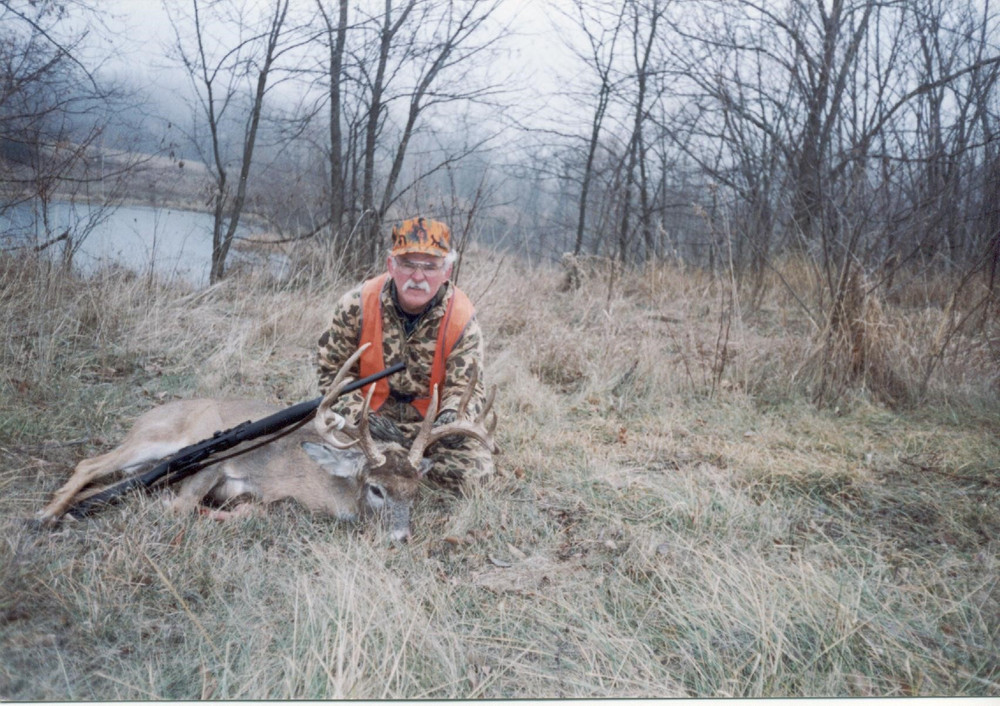 Hunting land with good ground cover, water and crops.