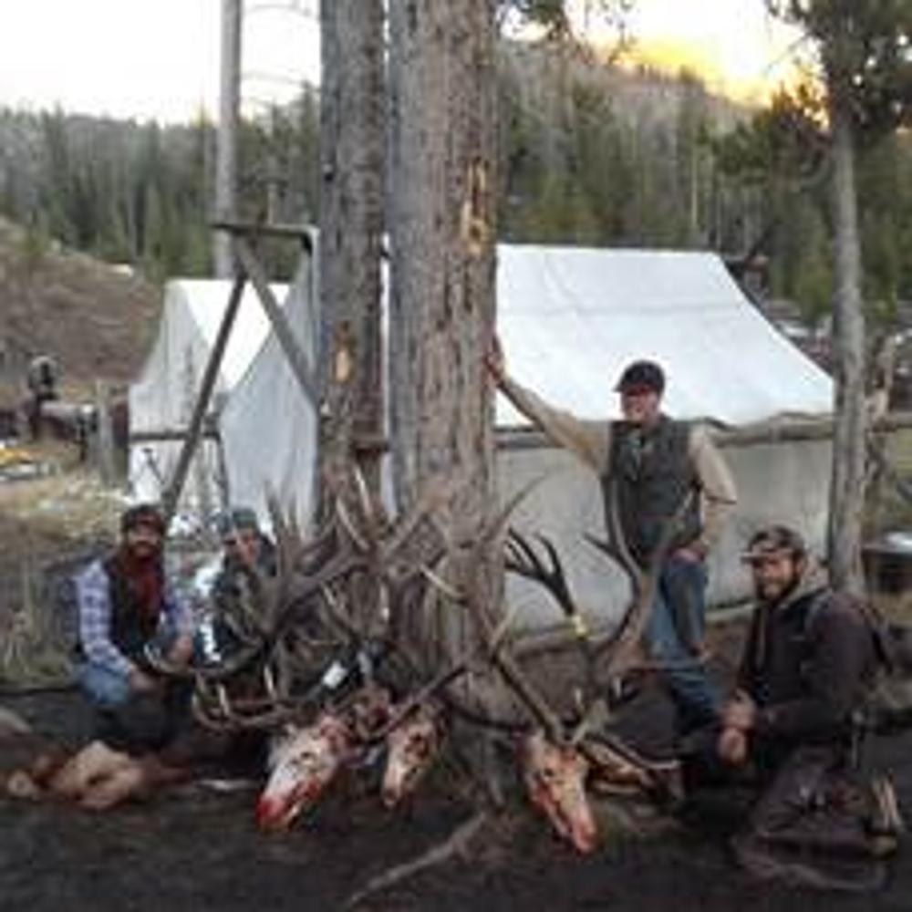 Successful elk camp