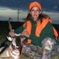 A youth gal and her trophy antelope on private property.
