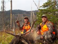 Father and son elk hunt.