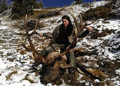 This gal showed the sportsmen what a sportswoman can do elk hunting.