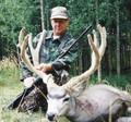 DIY hunt for big trophy mule deer buck in velvet.