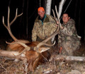 Hunter and guide with a trophy 6x6 bull elk.