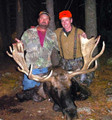 Happy customer with his once in a lifetime Colorado bull moose.