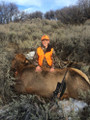 Proud teenager of his first cow elk.