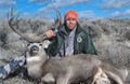 Sagebrush mule deer trophy from a guided hunt.