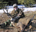 "Hunt #5082 Mule Deer/Elk Guided Lodge 25-30"" Wide Deer"