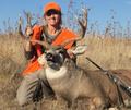 Happy deer hunter.