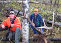 My guide and I with my 6x6 bull elk.